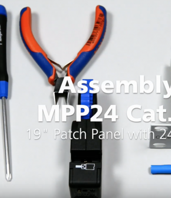 19″ Patch Panel MPP24 Cat.6A assembly | Telegartner