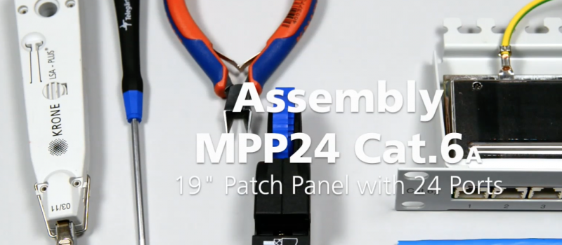19″ Patch Panel MPP24 Cat.6A assembly | Telegartner